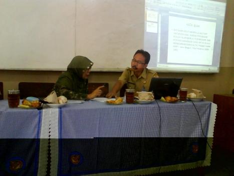 Pengarahan dari Pengawas SMP Kab. Kudus , Bpk Ahmad Junaedi, M.Pd
