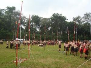 tiang bendera dari masing-masing pangkalan